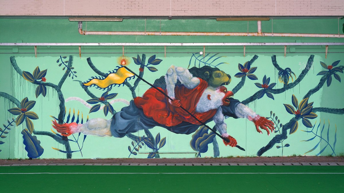 New mural! 90 meter Barlo painting depicts 'Nature of Knowledge' – PHOTOFEAST